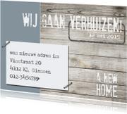 Verhuiskaarten - Verhuiskaart Stamp