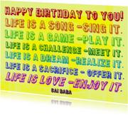 Verjaardagskaarten - Verjaardag Life is a Song IW