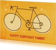 Verjaardagskaarten - Verjaardagskaart Retro fiets
