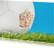Felicitatiekaarten - Voetbal - felicitatie of feest