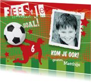 Voetbal uitnodiging kinderfeestje