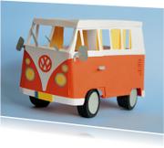 Geslaagd kaarten - Volkswagenbusje