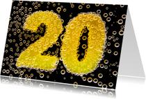 Felicitatiekaarten - 20 in feestelijke champagne