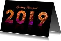 2019 gelukkig nieuwjaar met vuurwerk