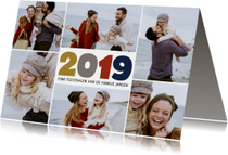 Nieuwjaarskaarten - 2019 nieuwjaarskaart 6 foto's collage
