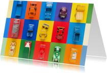 Auto's met feestelijke kleuren