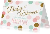 Uitnodigingen - Babyshower Confetti