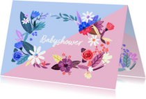 Babyshower Time bloemen