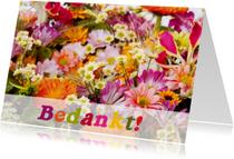 Bedankkaartjes - Bedankt bloemen 1