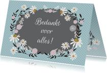 Bedankkaartjes - Bedankt label bloemen