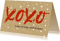 Beterschapskaarten - Beterschap xoxo hugs and kisses voor steun
