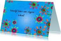 Bloemenkaarten - Bloemetjes blauw