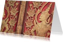 Boeddha afbeelding op deur