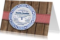 Uitnodigingen - Bourgondisch bont bord