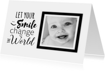 Spreukenkaarten - Change the world-isf