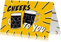 Cheers verjaardagskaart biertjes