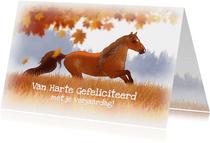 Dierenkaarten - Chiwowy Paardenkaart herfst