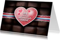 Moederdag kaarten - Chocoladekaart - mama