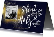 Kerstkaarten - Christelijke kerstkaart met foto Silent Night