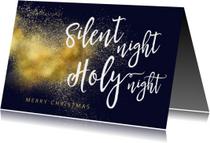 Kerstkaarten - Christelijke kerstkaart Silent Night