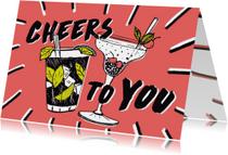Verjaardagskaarten - Cocktails verjaardagskaart