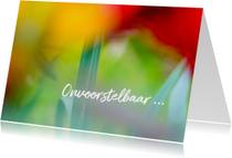 Condoleancekaarten - Condoleance alle kleur uit het leven verdwenen