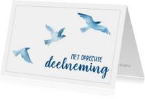 Condoleance - met oprechte deelneming vogels