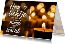 Condoleance - moed is een lichtje