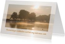 Condoleancekaarten - Condoleance rivier zonop