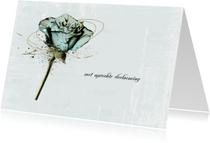 Condoleancekaart Roos Lichtblauw