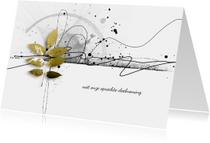 Condoleancekaarten - Condoleancekaart scribble goud takje
