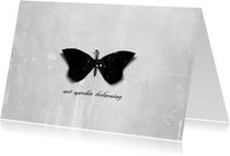 Condoleancekaarten - Condoleancekaart Zwarte Vlinder