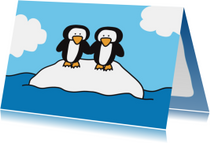 Dierenkaart Pinguins