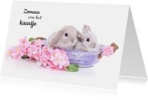 Dierenkaarten - Dierenkaart - Schattige Konijntjes