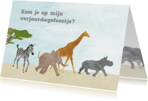 Feestje dieren uit Afrika