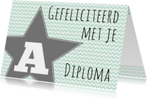 Felicitatie A-diploma Ster - WW