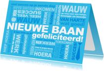 Felicitatie Baan Tekst Blauw