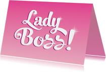 Felicitatie eigen bedrijf lady boss
