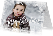 Kerstkaarten - Foto kerstkaart sneeuw kader