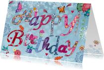 Happy Birthday Bloemen Letters