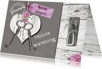 housewarming hart sleutels