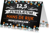 jubileumkaart 12,5 jaar Bedrijf