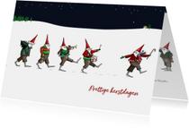 Kerst - Negen kerstmannetjes op kerstavond