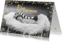 Kerst stijlvolle kaart met een fotokader van sterretjes