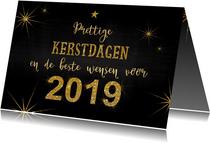 Kerst stoer en feestelijk handlettering goud glitter 2019