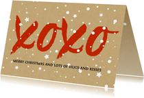 Kerstkaarten - Kerst xoxo hugs and kisses voor steun