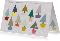 Kerstkaarten - Kerstbomen collage