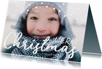Kerstkaart confetti 'Merry Christmas' met grote foto