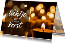 Kerstkaarten - Kerstkaart - een lichtje tijdens de kerst