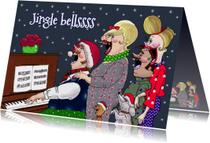 Kerstkaarten - Kerstkaart Jingle bells piano